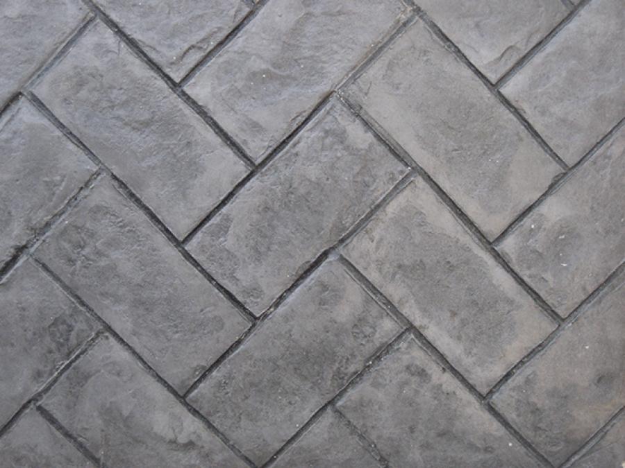 Herringbone paver Cemento estampado fotos